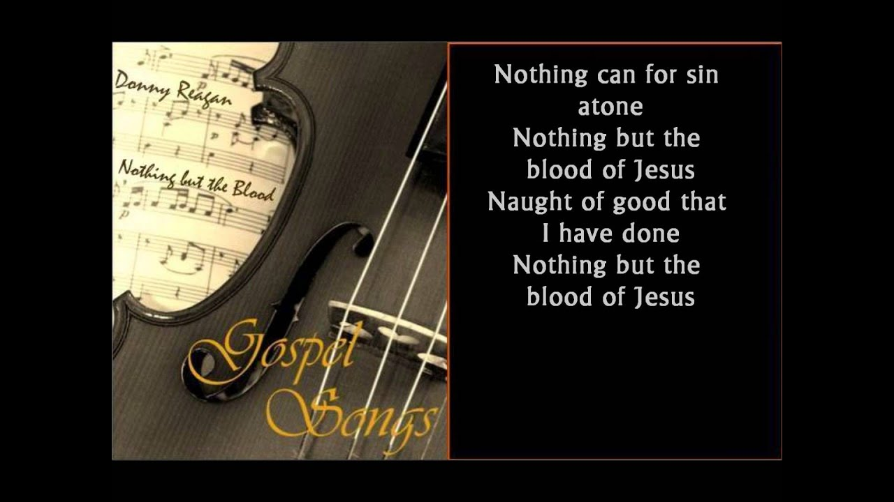 nothing but the blood of jesus chords pdf