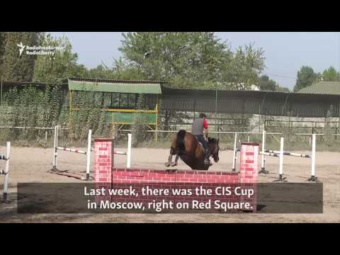 Young Kyrgyz Equestrians Jump Obstacles In Expensive Sport
