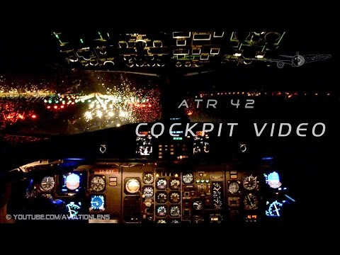 ATR 42 Night flight, cockpit HD