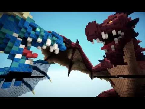 Minecraft Fire And Ice Dragons Uberagon YouTube