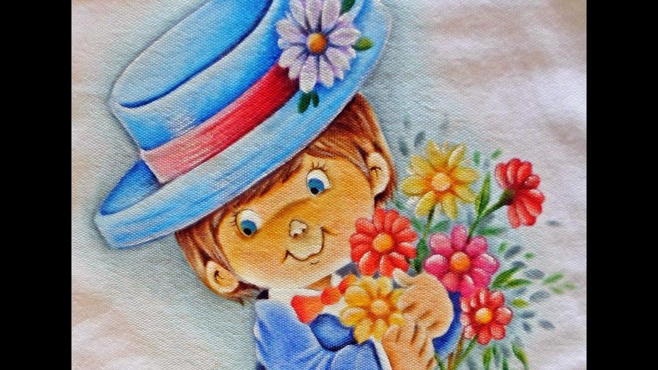 Como pintar tema infantil p menino pintura em tecido - Pintura infantil pared ...