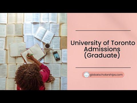 University Of Toronto Graduate Admissions For International Students