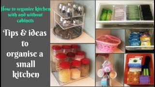 Some new ideas to organize a small Indian kitchen   organize kitchen with & without cabinets