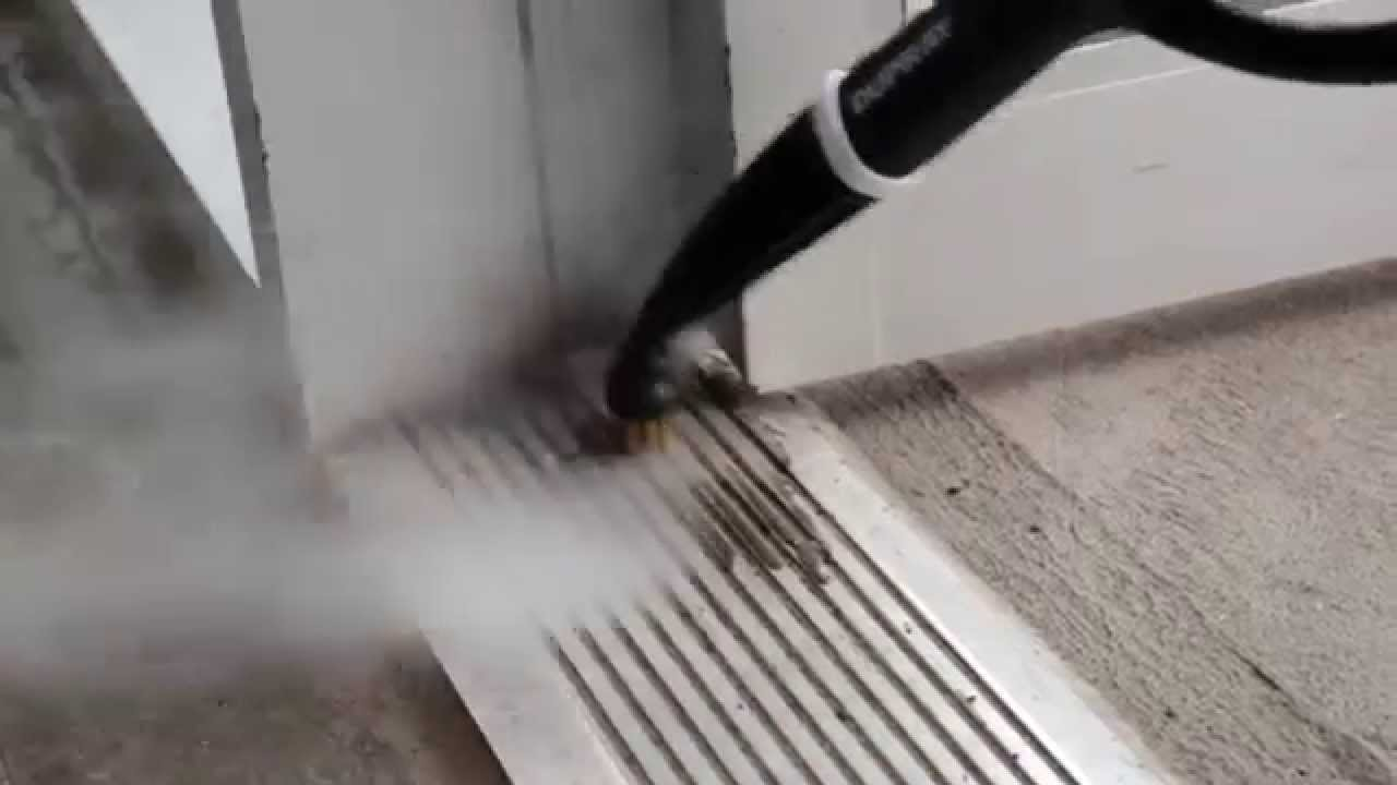 How to Clean Aluminium Door Tracks with a Steam Cleaner & How to Clean Aluminium Door Tracks with a Steam Cleaner - YouTube