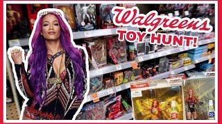 TOY HUNT!!! SEARCHING FOR SASHA BANKS IN WALGREENS!!! WWE WRESTLING FIGURE FUN #104