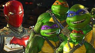 Injustice 2 - Ninja Turtles vs Red Hood All Intro Dialogue