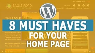 8 Must Haves for Your Home Page - WordPress