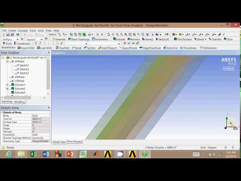 Air Flow Analysis Part 3: Rectangular Duct Rendering