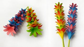Paper Flower Stick || DIY Beautiful #Paper Stick Flower  idea for Room Decoration