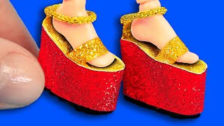 10 DIY Barbie Shoes and Boots : miniatures shoes for dolls