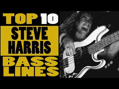 Top 10 Iron Maiden  Steve harris bass lines
