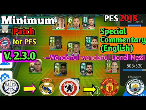 pes 2018 mobile patch download 2.3.3