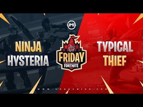 Ninja & Hysteria Vs Typical Gamer & Thief | Friday Fortnite Week 9 | Winners Quarterfinals