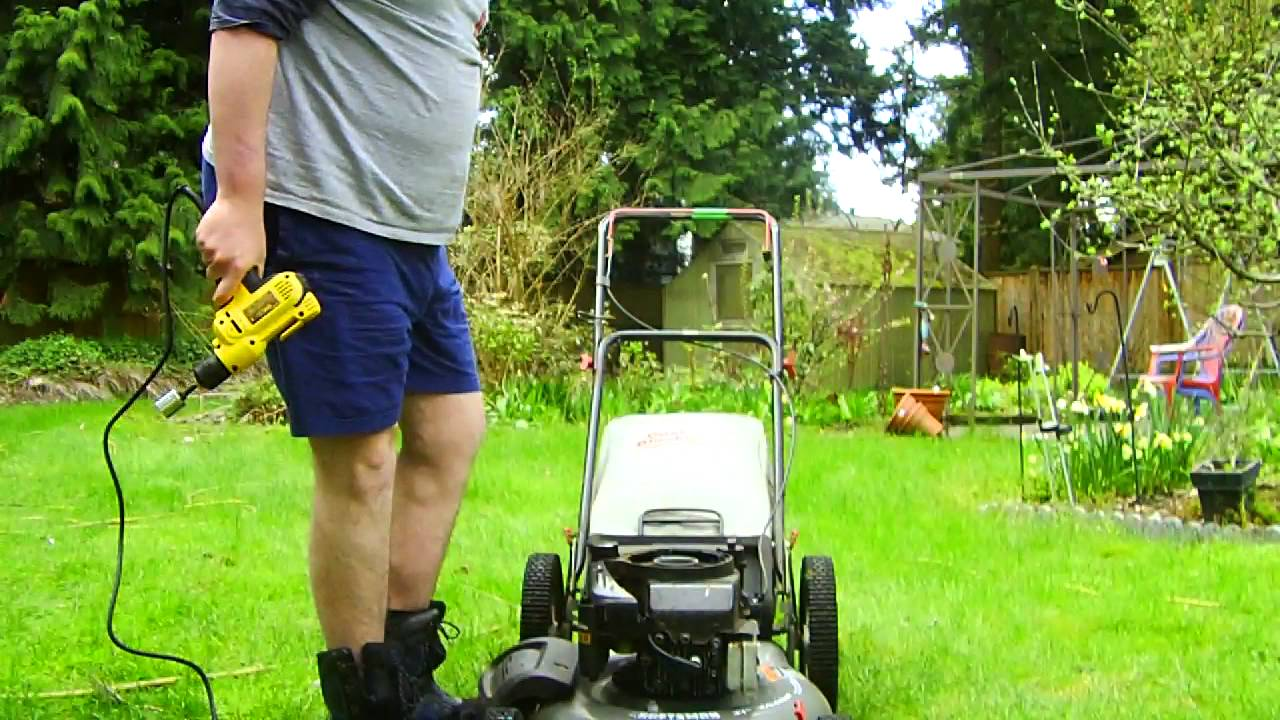 Craftsman High Wheel Push Mower Drill Start Youtube