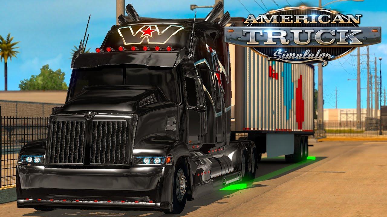 美國卡車模擬 | ATS # 28 : 柯博文卡車頭 Western Star 5700XE - YouTube