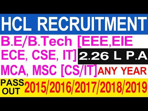 HCL Recruitment Drive For Fresher 2019   HCL Jobs In Vijayawada   HCL TSS Program   TeluguJobPortal
