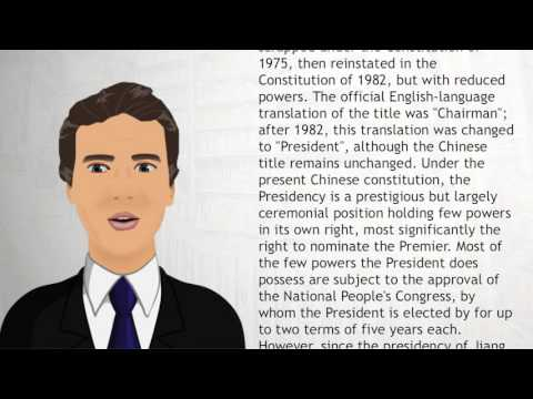 President of the People's Republic of China - Wiki Videos