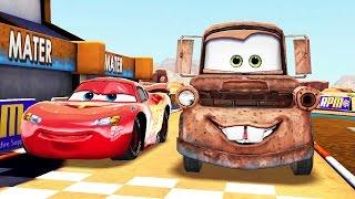 Arabalar Şimşek McQueen Hızı Mükemmel Yarışıyoruz (Araba Oyunu)