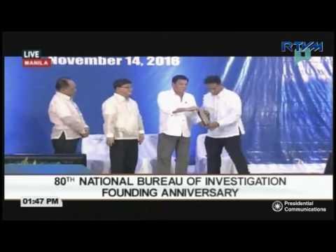 80th National Bureau of Investigation (NBI) Founding Anniversary 11/14/2016