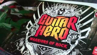 Unboxing Guitar Hero Warriors Of Rock (Wii)