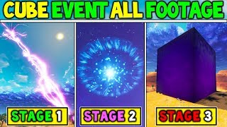BUILD UP TO THE FORTNITE CUBE EVENT IN GAME FOOTAGE! + RIFT / CRACK GONE (IN SKY) Season 5 Storyline