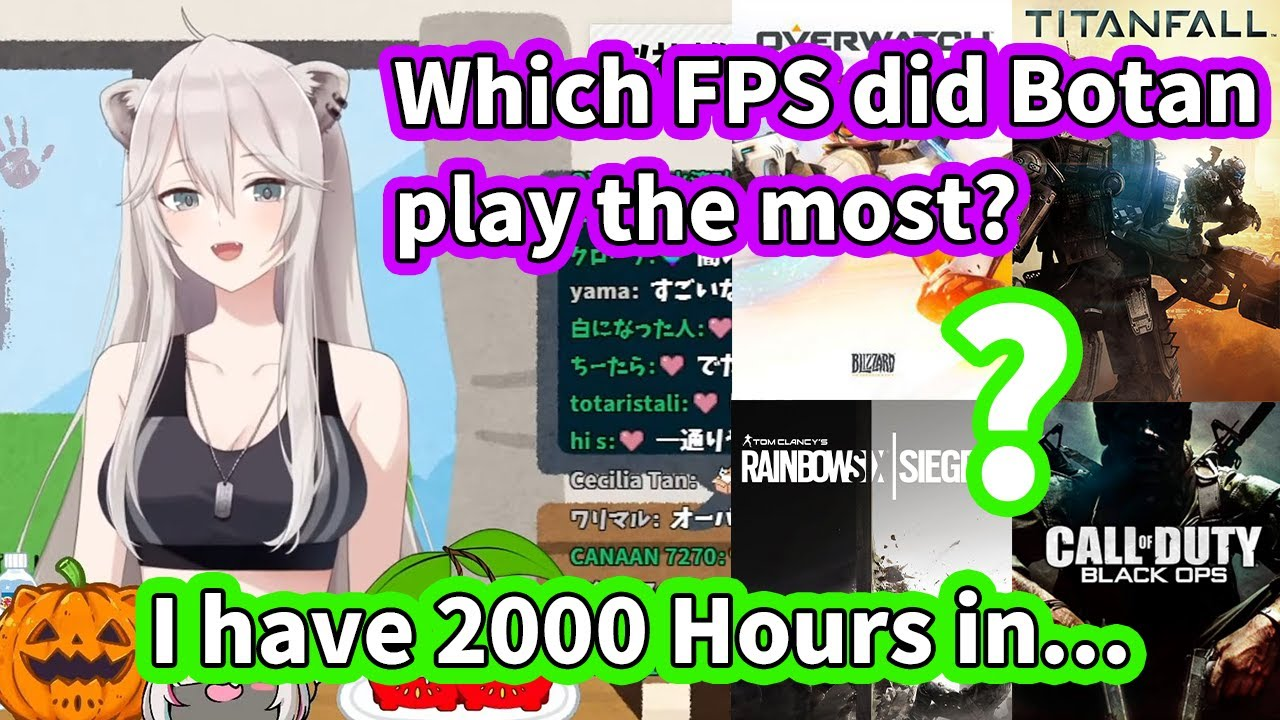 Download Which FPS does Botan have the Most Hours In? [ENG Subbed Hololive]