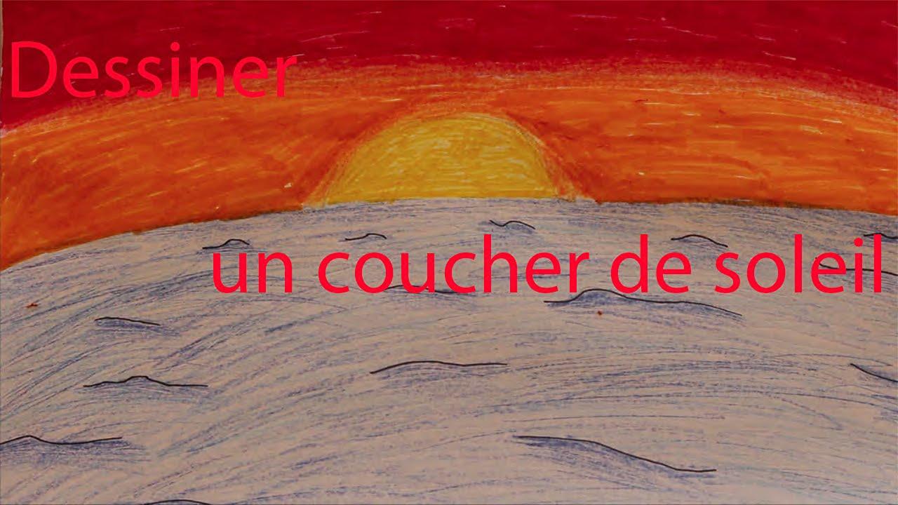 Design action dessiner un coucher de soleil youtube - Dessin coucher de soleil ...