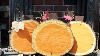 How To Create Stunning Wood Slice Pumpkins - Diy Home Tutorial - Guidecentral