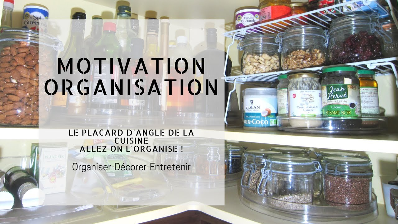 motivation-organisation : le placard d'angle de la cuisine - youtube