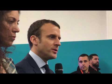 Point Presse d'Emmanuel MACRON, Président d'En Marche, Candidat à l'Election Présidentiel 2017