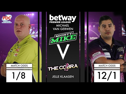 2017 Premier League of Darts Week 3 van Gerwen vs Klaasen