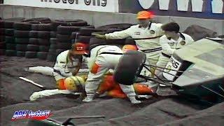 Ayrton Senna Big Crash 1991 F1 Mexico Qualifying