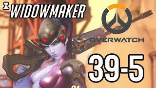 39 Kill Widowmaker Sniper Gameplay - Overwatch