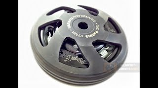 Тюнинг скутера Honda Dio 28, тюнинг сцепления колокол ремень!