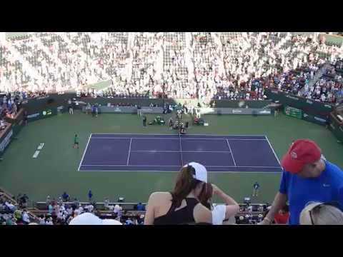 2017 Indian Wells Federer vs Nadal Warmup