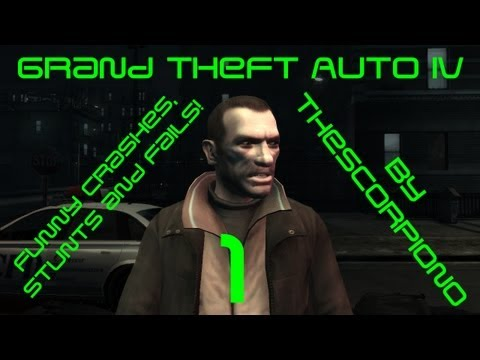 Grand Theft Auto IV: Funny Crashes, Stunts and Fails! [HD 720p] Travel Video