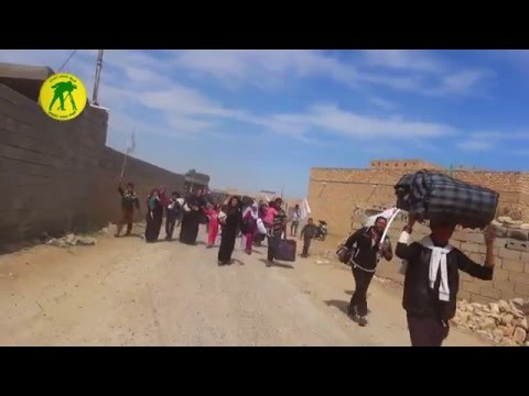 Iraqi Golden Division rescue families fleeing from ISIS after battles in Anbar