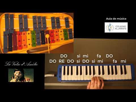 La Valse D'Amèlie (Yann Tiersen) - TUTORIAL MELÓDICA Y CARRILLÓN