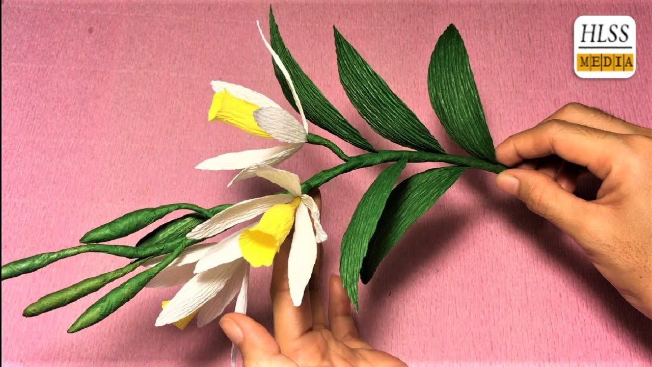 how to make vanilla orchid paper flower