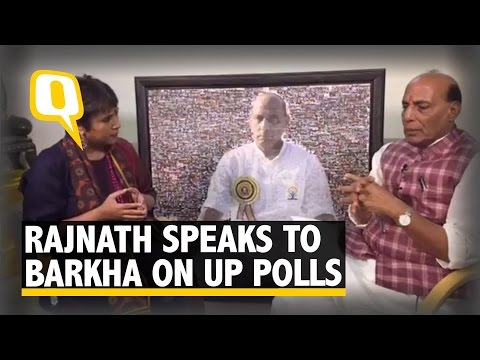 The Quint: BJP Will Win Absolute Majority in UP: Rajnath Singh to Barkha Dutt