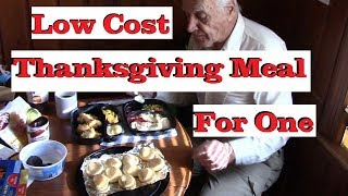 Thanksgiving Dinner For One or Two Big, Low Cost
