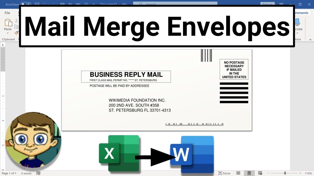 Mail Merge Envelopes in Microsoft Word