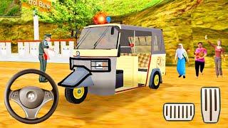 Offroad Tuk Tuk Auto Rickshaw Driving Simulator - Realistic Passengers Transport - Android Gameplay screenshot 4