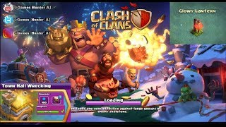 Clash of clans Town Hall Wrecking event & Glowy Lantern