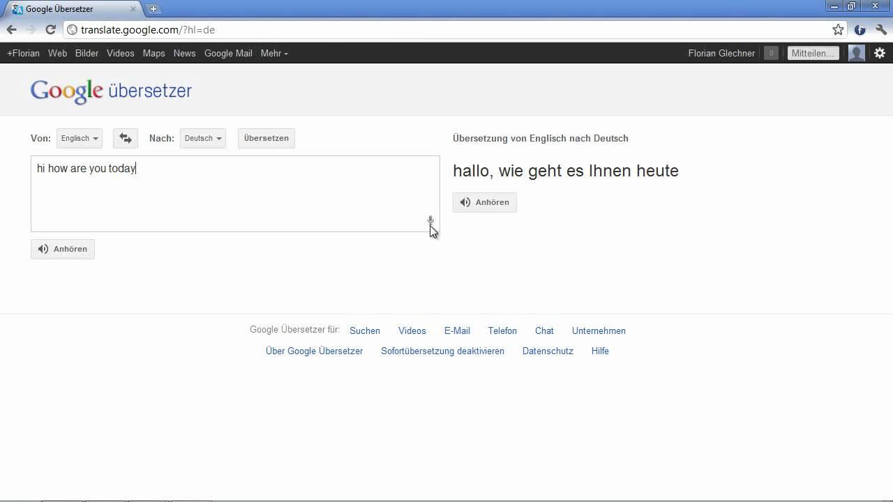 Chrome Schneller übersetzen Per Spracheingabe Youtube