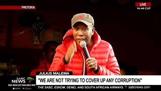 Malema addresses supporters following Gordhan, Mkhwebane court bid