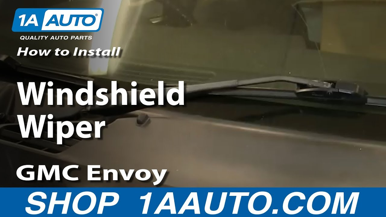 How to install replace windshield wiper blade 2002 09 gmc envoy youtube
