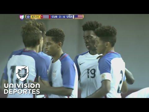 Estados Unidos goleó 6-2 a Cuba y se clasificó al Mundial Sub-17 de India