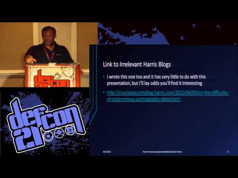 DEF CON 21 - John Ortiz - Fast Forensics Using Simple Statistics and Cool Tools