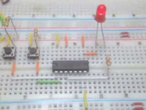 Porte logique nand avec un 4093 youtube for Porte and nand